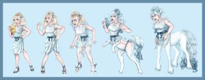 Satine the Centaur Transformation by arania