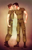 Sterek military AU by trasigpenna