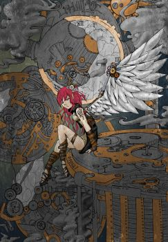 Steampunk Angel contest entry by wretched--hound