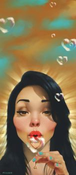 La Bella Donna of the Bubbles by Scribblebot