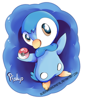 Piplup is gonna cath 'em all! by pampd
