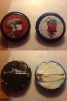 Gorillaz buttons by Justyna1396