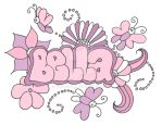 bella name canvas by girldoodle