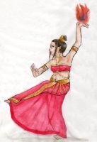 A Dance of Fire -Bharatanatyam by Toby-Chan