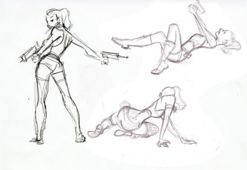 Army Gal Life drawing 2 by victoriaying