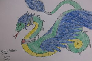 Feathered Snake with Wings by ShadowOrder7
