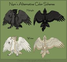Nym's Alternative Colors by Shadow-Wolf