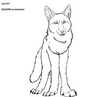 Coyote Lineart NEW by DEAFHPN