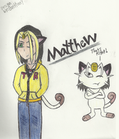 Matthew the Meowth by AlyssaThePikachu