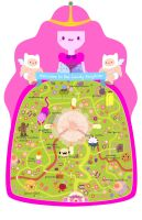 Candy Kingdom Map by pronouncedyou