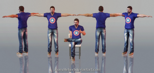 Chris Redfield - Casual Clothing ( W.I.P - Ready ) by JhonyHebert