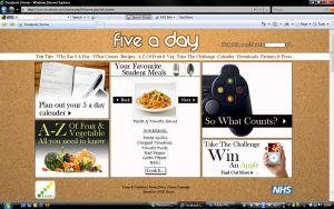 5 A Day Home Page by Gav229
