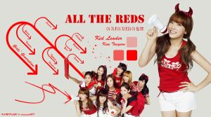 All The Reds -  SNSD Taeyeon by Kamikazi12