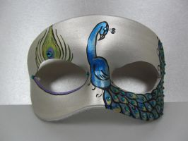 Silver Peacock Mask by maskedzone