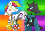 Gift: PonyByteSketches : 4 players! (Neon Ver.) by PeriodicBrony