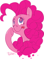 Sparkly Shiny Pinkie by sofas-and-quills