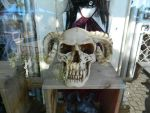 Scary Skull With Horns by leftinsideyourheart