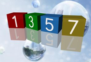 3D Cubes Clock for xwidget by jimking