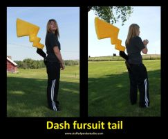 Pikachu fursuit cosplay tail by stuffedpanda-cosplay
