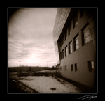 holga side of library by electricjonny