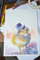 little yellow chicken with hat by Ca--s
