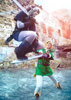 Mastersword Jump - Link vs Dark Link Cosplay by Evil-Siren