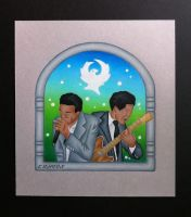 Junior Wells and Buddy Guy by EhrenThibs