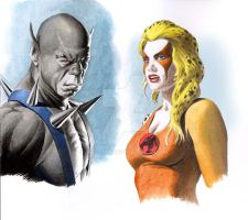 Panthro and Cheetara - Thundercats by Az-I-Am