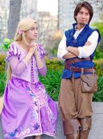 Tangled: Rapunzel and Flynn by Ravenspiritmage