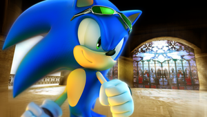 Sonic in a Digital Dimension by RealSonicSpeed
