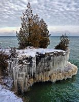 Cave Point in Winter by ariseandrejoice