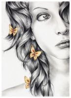 Princess of Butterflies by nabey