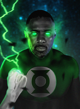 Idris Elba as John Stewart by LitgraphiX