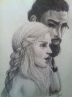 Daenerys and Khal Drogo by rowancharles