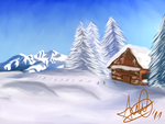 Landscape #02 - Serene Winter by Pixel-Andy