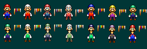 Mario and Luigi BIS Alternate Palletes by TheKCroxas