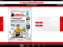 Application Ipad - Le Journal du Dimanche by JFDC