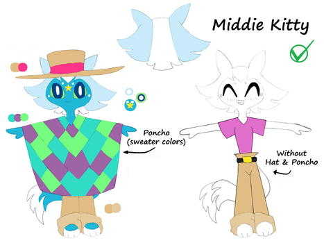 Middie Kitty- alternate outfit by Midniteoil-Burning