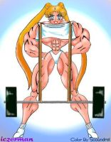 Serena barbell lift by muscle82002