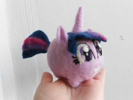 Needle Felted Twilight Sparkle Chubby by MaijaFeja
