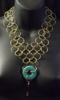 Brass Chainmail Necklace by MorganCrone