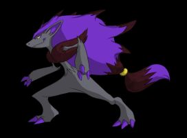 Shiny Zoroark - Pokemon by SwankyShadow