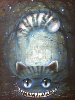 Alice in Wonderland - Cheshire Cat Canvas by ladymistrel