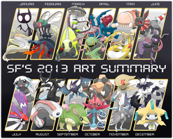 SF's 2013 Art Summary by Smiley-Fakemon