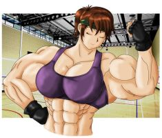 hard day at the gym with Akiko by MarianGTS