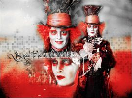 Mad Hatter Wallpaper by cwiny