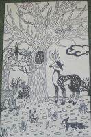 Black and White Tree by Rainbow-Moose