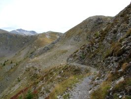 Mountain 299 - vertiginous path on the top by Momotte2stocks