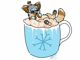 YCH: Peppermint Hot Chocolate by AgentAnarchy