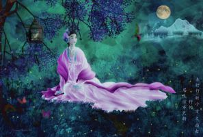 Garden Of Moonlight by PatriciaRodelaArtist